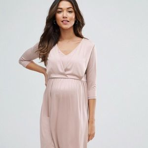ec1d1a1bf31 ASOS Maternity Dresses - ASOS maternity nursing drape front midi dress